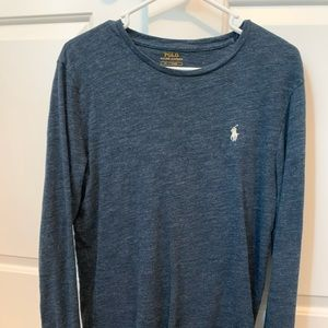 Blue polo long sleeve tee